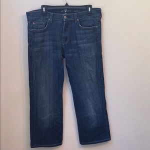 7 for all mankind austyn blue jeans size 34